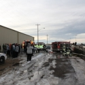 View of the scene including fire, EMS & RCMP.