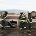 Extrication equipment being used.